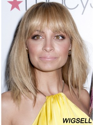 Nicole Richie Wigs Shoulder Length Lace Front With Bangs