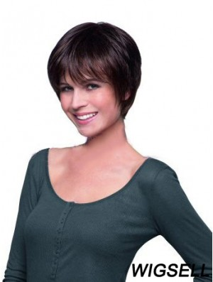 Cropped Boycuts Lace Front Hand Tied Human Hair Wigs UK