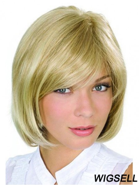 Chin Length Blonde High Quality 10 inch Wavy Bob Wigs
