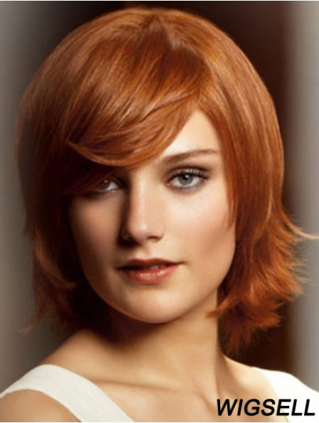 10 inch Blonde Chin Length With Bangs Straight Fabulous Lace Wigs