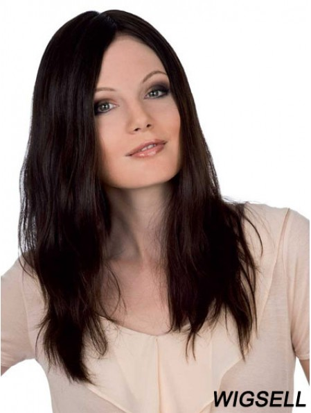 Cheapest 18 inch Auburn Long Without Bangs Straight Lace Wigs