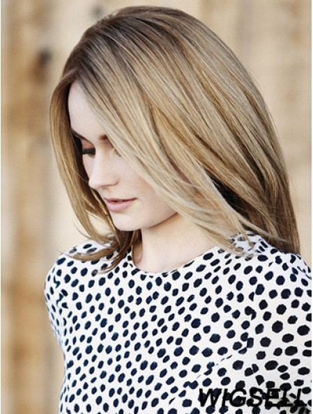 Bobs Shoulder Length Blonde Straight 14 inch Top Human Hair Wigs