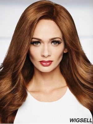 100% Hand-tied Straight 20 inch Long Human Hair Wigs