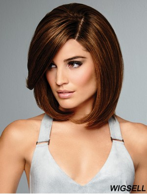 Brown Bob Wig 100% Hand Tied Remy Human Hair Wig UK Online 12 Inch