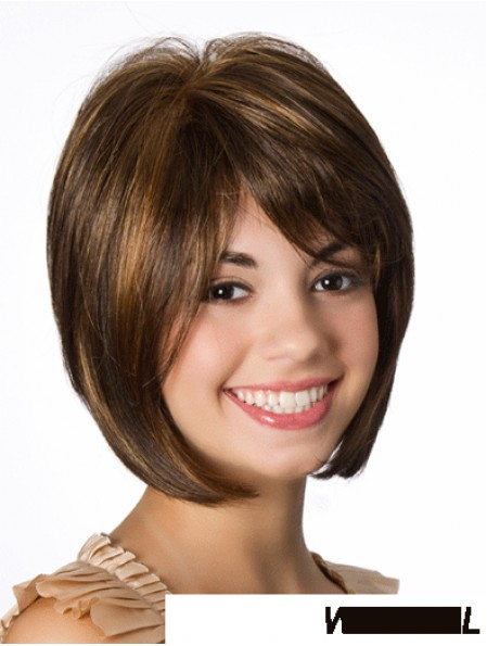 Lace Front Straight 10 inch Brown Bob Hairstyles