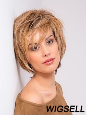 Copper Wig Bob Style Monofilament Wig Human Hair Wig Chin Length