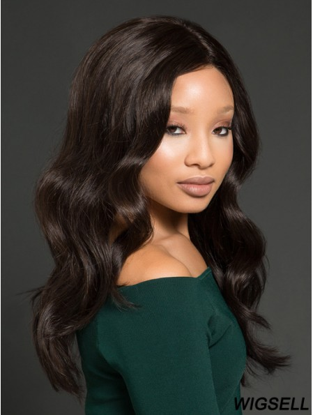 Long Full Lace Wig Remy Human Hair Wavy Wig African American Wig UK