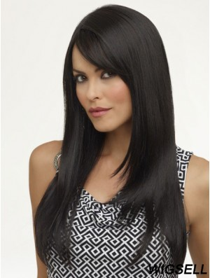 Cheap Black Wigs For Ladies Long Length 18 Inch