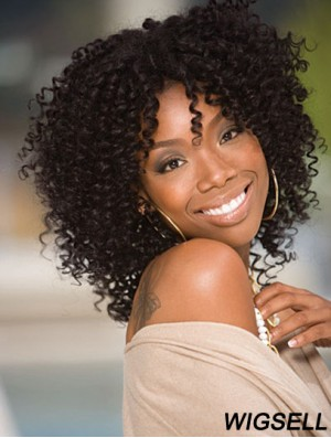 Kinky Curly Wig Black Lace Front Wig Jennifer Hudson Wig Shoulder Length