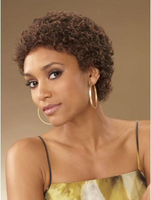 African Hair Curly Style Short Length Boycuts With Capless