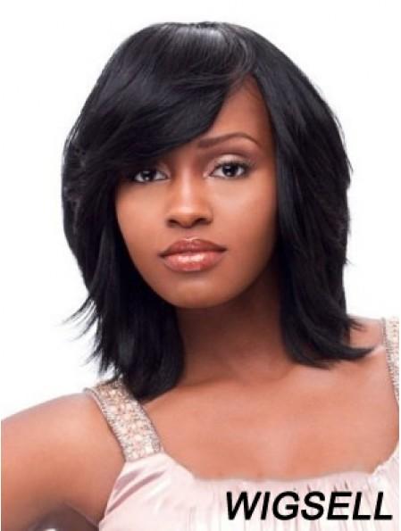 African American Wig Black Chin Length Wig Capless Wig Online