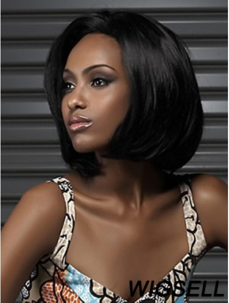 Wigs For African Americans Black Color Bobs Cut Chin Length