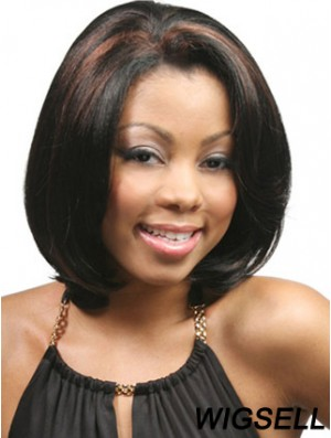 African American Synthetic Glueless Lace Front Wigs Chin Length