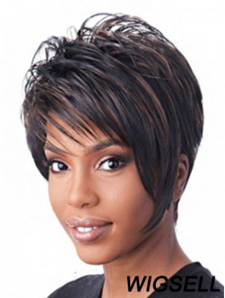 Cspless Black Short Straight Layered African American Hairstyles