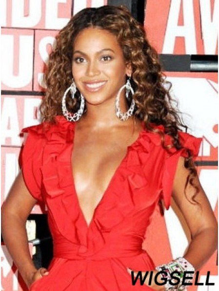 Long Curly Without Bangs Capless 20 inch High Quality Beyonce Wigs