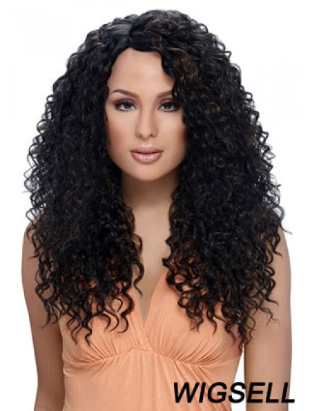 Long Black Kinky Layered Perfect African American Wigs