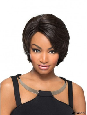 Synthetic Capless Short Straight With Bangs Black Woman's Wig