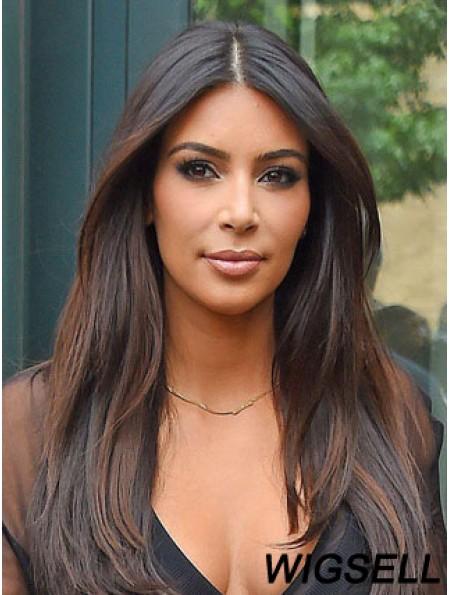 Auburn Straight Lace Front Natural 24 inch Kim Kardashian Wigs