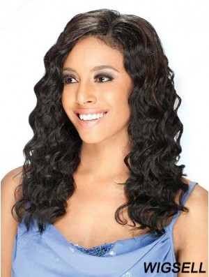 Brazilian Human Hair Lace Front Wigs Black Color Long Length