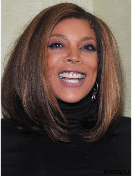 Wendy Williams Full Lace Wig Ombre/2 Color Bobs Cut Shoulder Length