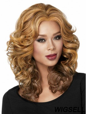 African American Curly Full Lace Wig With Capless Blonde Color