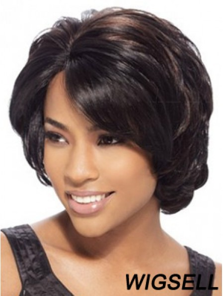 Chin Length African American Wig Brown Color Wig UK Cheap