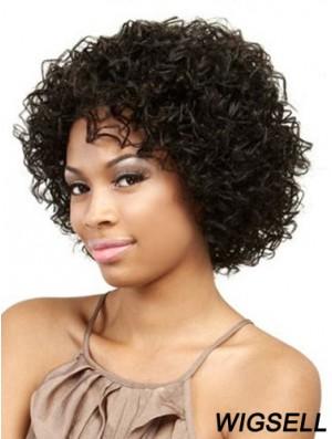Chin Length Black Kinky Without Bangs Online African American Wigs