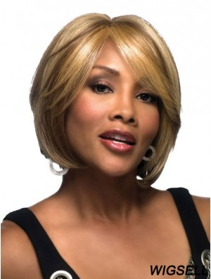 Chin Length Straight Lace Front Blonde Modern Bob Wigs
