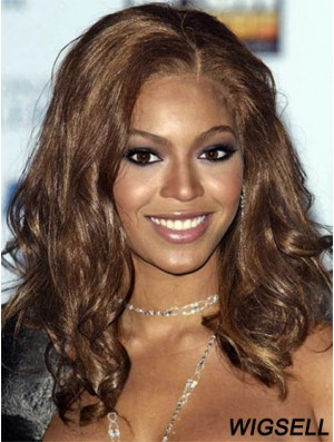 Wig Without Bangs Long Wavy Wig Beyonce Style Wig UK Remy Human Hair