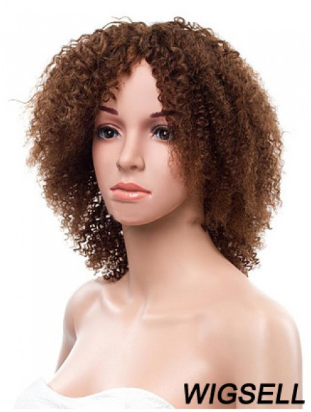 Short African American Hairstyles Remy Human Lace Front Brown Color
