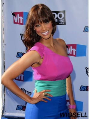 Auburn Wavy With Bangs Full Lace 18 inch Hairstyles Tyra Banks Wigs