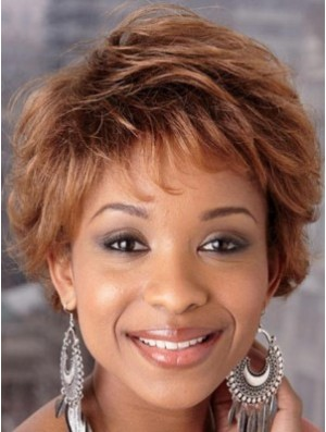 Short Wigs in Auburn Hair African American Wig Sale