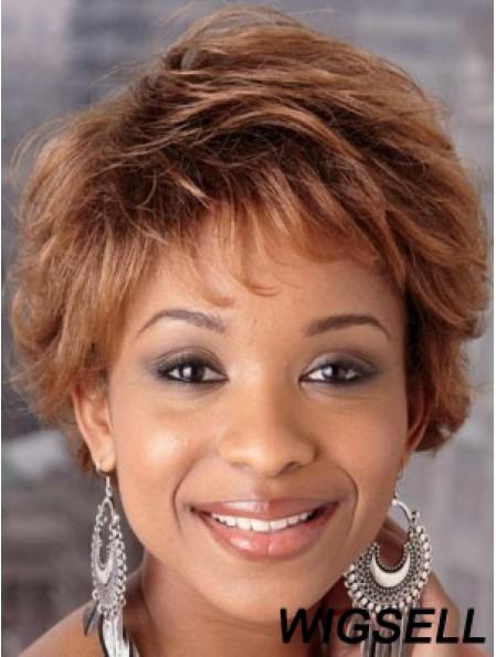 Short Wigs in Auburn Hair African American Wig Sale