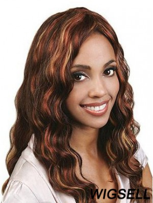 Long Auburn Without Bangs Wavy Best Full Lace Wigs