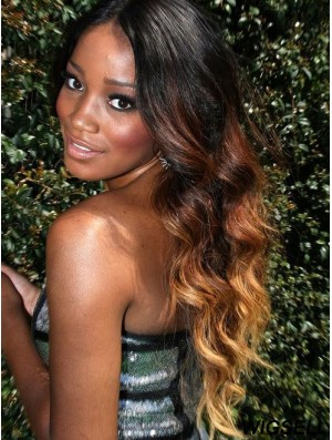 Full Lace Human Hair Wigs UK With Long Length Ombre/2 Color