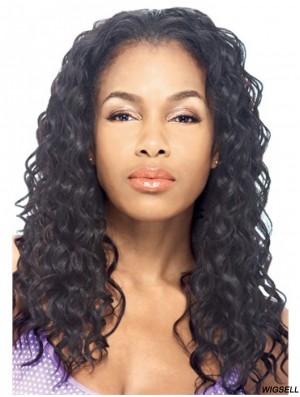 Long Kinky Black Flexibility Brazilian Remy Hair Half Wigs