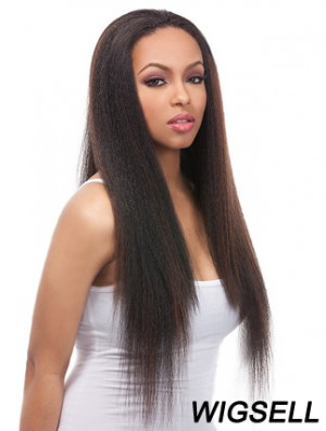 24 inch Black Lace Front Wigs For Black Women