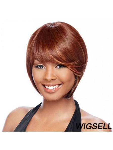 Short Auburn Straight Bobs Best African American Wigs