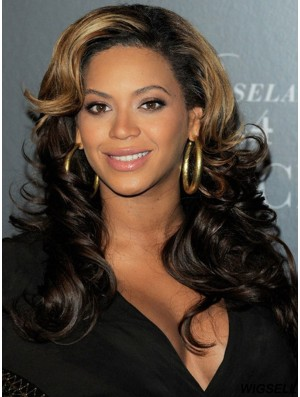 Long Ombre/2 Tone Wavy Without Bangs Durable African American Wigs