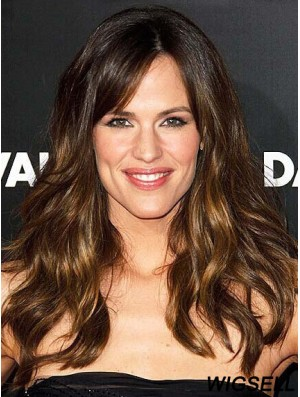 Modern Ombre/2 Tone Long Wavy Without Bangs 18 inch Human Lace Wigs