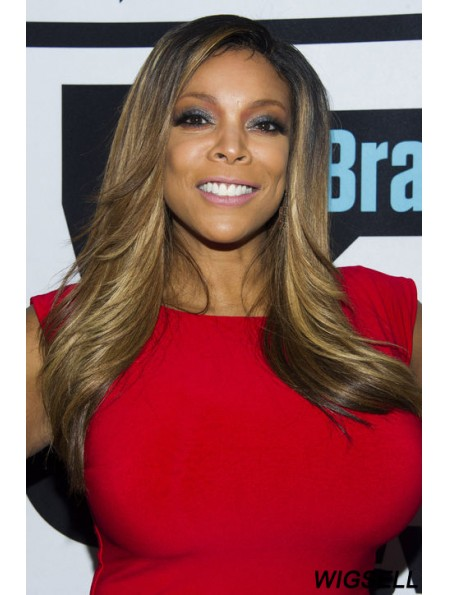 Layered Straight Blonde 22 inch Cheap Wendy Williams Wigs