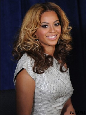 Shoulder Length Ombre/2 Tone Wavy Without Bangs Great African American Wigs