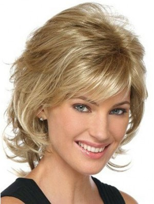 Lace Front Wig UK Short Length Classic Blonde Hair
