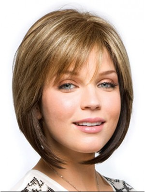 Synthetic Ladies Wigs With Bobs Cut Straight Style Chin Length