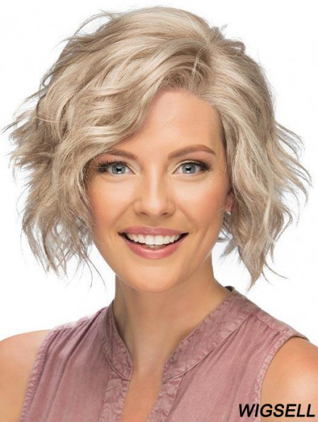 Curly Blonde Wig Short Lace Front Wig Classic Women Wig UK