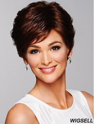 Auburn Cropped Wig Cheap Short Wig For Ladies Online 6 Inch