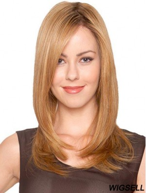 Blonde Long Wig Straight Monofilament Wig UK For Women New