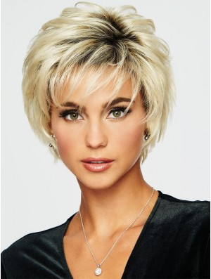 Modern Blonde Short Wig UK Synthetic Wig For Sale 5 Inch