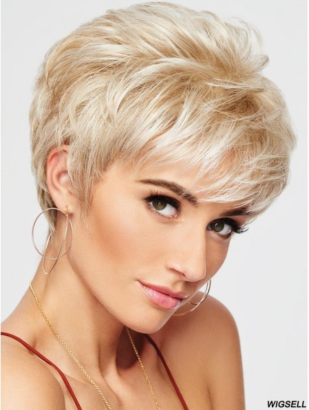 Boycuts Blonde Wavy 4 inch Cropped Synthetic Wigs