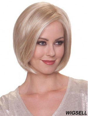 Blonde Bob Wig Synthetic Mono Top Wig Cheap Online For Ladies